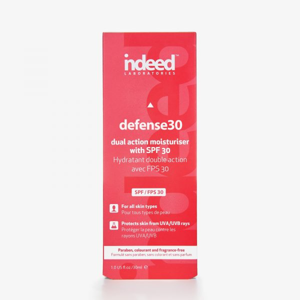 indeed laboratories defense30 dual action moisturiser with SPF 30